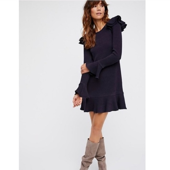 Free People Dresses & Skirts - Saylor for free people navy bell sleeve dress